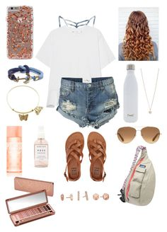 """""""Getting my nails done! """" by one-of-those-nights ❤ liked on Polyvore featuring RVCA, Victoria, Victoria Beckham, One Teaspoon, S'well, Brooks Brothers, Minor Obsessions, Stella & Dot, Victoria's Secret PINK, Herbivore and Billabong"""