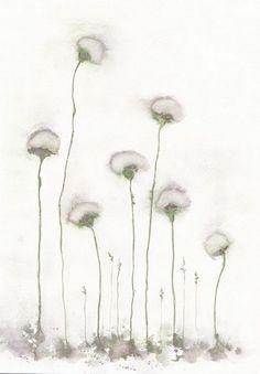 original watercolor  flower by mallalu on Etsy, $40.00