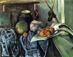 Paul Cézanne (1839-1906)   Still Life with a Ginger Jar and Eggplants   c. 1893-1894