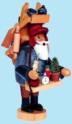 KWO Peddler German Christmas Incense Smoker Handcrafted in Erzgebirge Germany