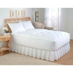 Southern Living Comfort Zoned Mattress Pad - King by Perfect Fit. $74.99. 200 Count 100% Cotton Diamond Zoned Quilting Woven Satin Binding 18 oz Polyester Fill 15? Knitted Skirt