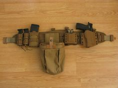 A simple Battle Belt with some Kydex, a few extra mags, and a dump pouch for your empty AR-15 and/or Glock mags | War Belt #warbelt