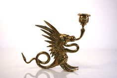 New to Revendeur on Etsy: Vintage Pair of Brass Griffin - Candle Holder - Candlestick - Harry Potter - Smaug - Dragon - Hippogriff - Game of Thrones - The Hobbit (40.00 USD)