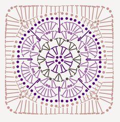 Crochet knitting patterns – twitch - My CMS Point Granny Au Crochet, Poncho Au Crochet, Granny Square Crochet Pattern, Crochet Diagram, Crochet Squares, Crochet Chart, Diy Crochet, Tutorial Crochet, Mandala Au Crochet
