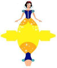 Snow White - Free Printable Disney Princess Box////Para aniversário com motivo princesa.//////For birthday with Princess motif.