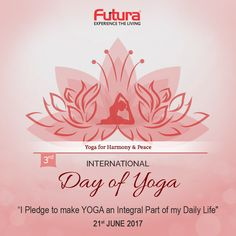 Let's celebrate the benefits of Yoga for body, mind & soul, as the world prepares for the Yoga Day.  #FuturaInterior #InternationalYogaDay #YogaDay #IDY2017 #health #fitness #workout #lifestyle #yoga