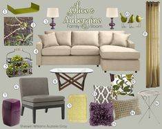 Mood Board Gallery | Teal and Lime Living room Colors