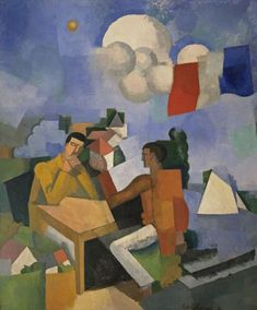 Fresnaye, Roger de La - The Conquest of the Air - Cubism - Oil on canvas - Allegory - Museum of Modern Art - New York, NY, USA Pablo Picasso, Francis Poulenc, Graffiti, Synthetic Cubism, Georges Braque, Museum Of Modern Art, Op Art, Oeuvre D'art, Impressionism