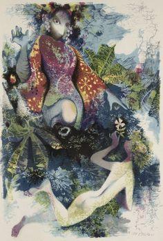 """Jiri Trnka, illustration from A Midsummer Night's Dream, 1961 """""""