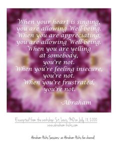 abraham hicks quotes on allowing - Google Search