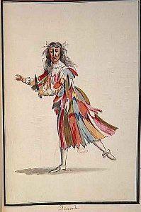 Mollier/Benserade, Ballet Royal de la Nuit, 1653: 2. Act-5. Entrée-la Discorde (le comte de Troye).(Costume design H. de Gissey)
