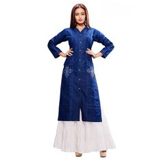 You searched for Praiseworthy Denim Party Wear Kurti |