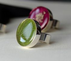 Leaf  in Resin Ring Flower Botanical Nature Resin by Beautiful2u, $26.00