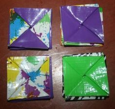 How to Make a Duck Tape Change Purse, A Tutorial, Craft