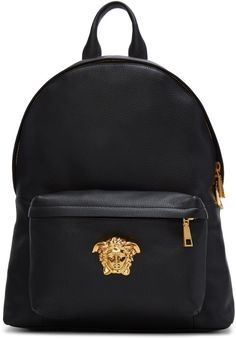 3d9fec59f9 Versace Black Medusa Backpack Versace Backpack