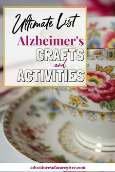 Stimulating Activities for Alzheimer's & Dementia Patients - Activities for Seniors - Over 75 activities and crafts for Alzheimer& and dementia patients - Activities For Dementia Patients, Dementia Crafts, Alzheimers Activities, Alzheimer's And Dementia, Alzheimer's Dementia, Elderly Crafts, Elderly Activities, Activities For Adults, Crafts For Seniors