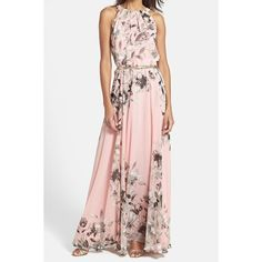 $14.34 Fashionable Round Collar Sleeveless Floral Print Women's Maxi Dress