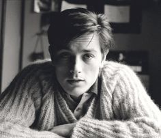 """wehadfacesthen: """"Alain Delon in a 1962 photo by Henri Elwing """""""