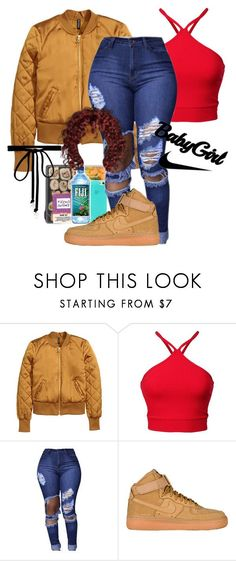 nike shoes gotta eat first by boylondon13 ❤ liked on Polyvore featuring NIKE and Joomi Lim