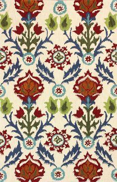 Marbella 100% Wool Area Rug in Beige design by NuLoom