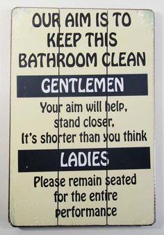 Bathroom Signs Cleanliness bathroom signs for home | pinterdor | pinterest | bathroom designs
