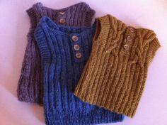Knit vests - original design