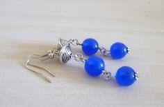 Ohrhänger - Ohrhänger ❦ Blaues Doppel ❦   - ein Designerstück von Flinke-Perle bei DaWanda