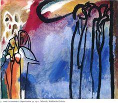 Page: Improvisation 19 Artista: Wassily Kandinsky Fecha de finalización: 1911 Lugar de creación: Munich / Monaco, Germany Estilo: Arte Abstr...