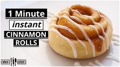 1 Minute *INSTANT* Fluffy CINNAMON ROLLS ! - YouTube Mug Recipes, Sweet Recipes, Snack Recipes, Snacks, Flour Recipes, Yummy Recipes, Cinnamon Roll Bread, Cinnamon Rolls, 2 Ingredient Desserts