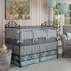Windy Day Bedding | Carousel Designs Finally found bedding I like, I think the icy blue lends itself to being gender neutral.
