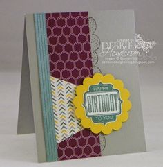 Create with Connie & Mary #313. Stampin' Up! Tag Talk & Boutique Borders. Debbie Henderson, Debbie's Designs