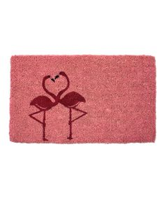Look what I found on #zulily! Flamingos in Love Handwoven Doormat by Entryways #zulilyfinds