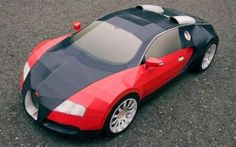Bugatti Veyron Super Sport Paper Model - by Visual Spicer - == -  This is the Bugatti Veyron and this cool and big paper model was created by Ukrainian designer Taras Lesko.