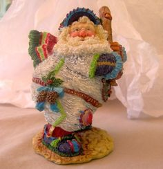 Nicely Detailed Santa as a Baseball Player Resin Figurine. Stands approx. 4 1/2 inches Tall Excellent Pre-Owned Condition from a Smoke-Free Home at www.bonanza.com/createstuff
