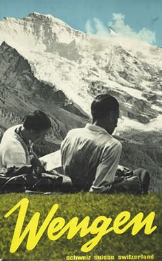 a vintage tourism-ad for Wengen/Switzerland