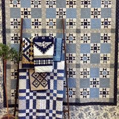 Temecula Quilt Company: Blue and White