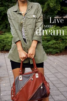 Live your dream Live For Yourself, Dreaming Of You, Military Jacket, Jackets, Bags, Fashion, Purses, Moda, Military Field Jacket