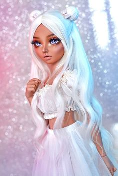 Untitled | Ilona | Flickr Doll Clothes Barbie, Bratz Doll, Ooak Dolls, Custom Monster High Dolls, Custom Dolls, Beautiful Barbie Dolls, Pretty Dolls, Candy Hair, Fairy Clothes