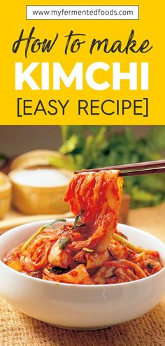 Kimchi is one of the most famous fermented foods. It is a Korean traditional side dish made of radish and cabbage. Here is a kimchi recipe for you to try. Clean Eating, Healthy Eating, Healthy Food, Asian Recipes, Healthy Recipes, Vegetarian Recipes, Good Food, Yummy Food, Korean Food