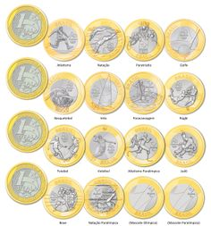 Set Lot 16 Coins All Brazilian Real Brazil 2016 Rio Olympic Summer Games Ed Euro Coins, Foreign Coins, History Of India, American Coins, Gold And Silver Coins, Rio Olympics 2016, Summer Games, World Coins, Coin Collecting