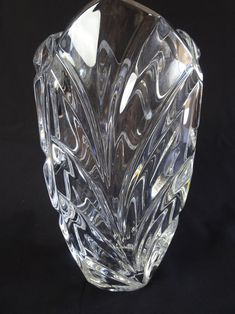 Waterford Marquis, Waterford Crystal, Crystal Vase, Container Flowers, Leaf Flowers, Flower Images, Leaf Design, Swarovski Crystals, Vintage Items