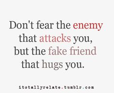 Fear the fake friend.