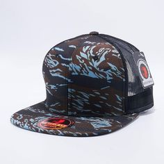 Pit Bull Tiger Camo Trucker Hats Wholesale  Blue Black  Blank Hats f8854b4489fc