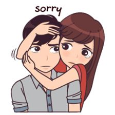 cute love cartoons Madly About You sticker Cute Love Quotes, Funny Love Pictures, Cute Cartoon Pictures, Cute Love Stories, Cute Love Gif, Cartoon Pics, Love Cartoon Couple, Cute Love Cartoons, Cute Cartoon Girl