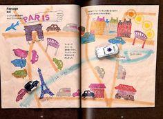 France Design Eraser Stamp Book - Japanese Craft Book
