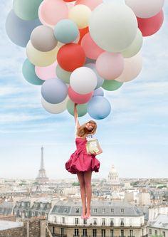 Balões - Fotos especiais. http://balaomania.pai.pt/ https://www.facebook.com/balaomania Ideias para sessões fotográficas com balões. Anuncio de Perfume