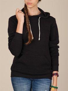 Alternative Apparel Women's Hoodlum Eco-Fleece Pullover Hoodie : Women