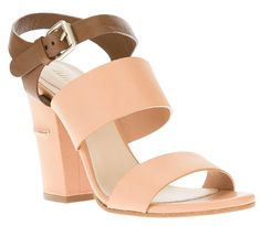 Reese Witherspoon in Wide Strap Chloé Bicolor Sandals