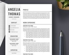 professional resume template cv template cover letter ms