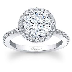 1 1/2ct diamond halo engagement ring14k white gold jewelryClick here for ring sizing guide